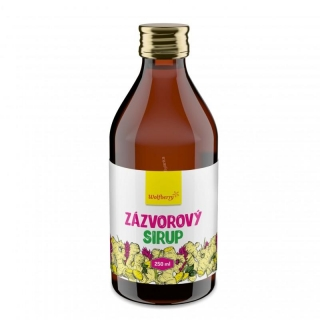 Zázvorový sirup 250 ml Wolfberry/exp.30.06.2020